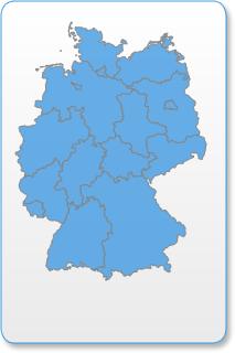 Vorschaukarte Deutschland - Klicken Sie auf die Karte, um alle eingetragenen Museen und Ausstellungen anzuzeigen und auszuwählen.